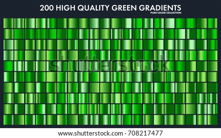 Grren chrome gradient set,pattern,template.Nature,grass colors for design,collection of high quality gradients.Metallic texture,shiny metal background.Suitable for text ,mockup,banner, ribbon