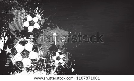 grunge abstract football