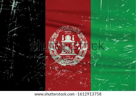 grunge afghanistan flag
