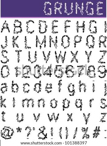 Grunge Alphabet, font set
