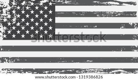 Grunge American flag.  #1319386826
