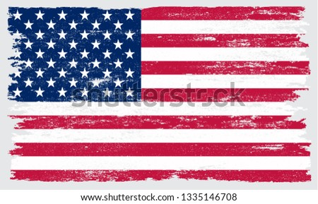 Grunge American Flag #1335146708