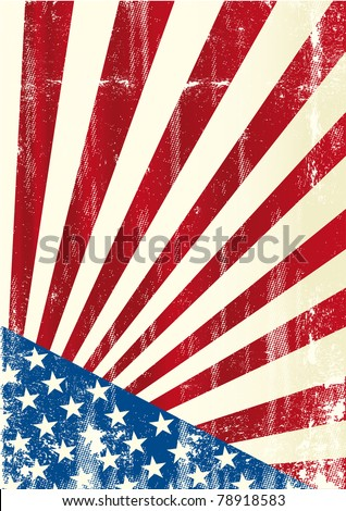 Grunge american flag. A grunge american poster
