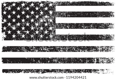 Grunge American flag.Old dirty USA flag.