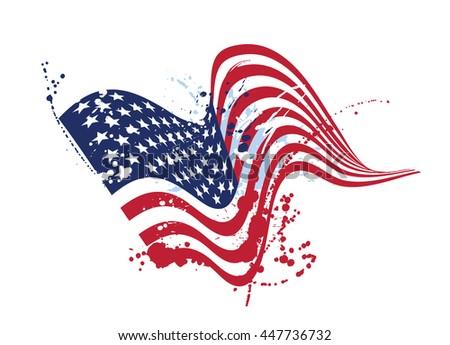 grunge american flag usa flag