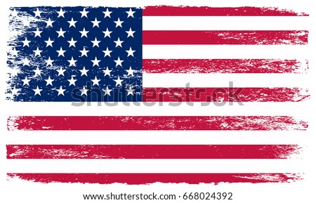 Grunge American flag.USA Independence day background.Happy 4th of July. #668024392