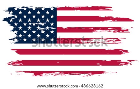 Grunge American FlagVector Flag Of USA