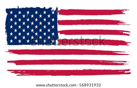 free american grunge flag vector