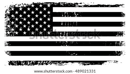 Grunge American FlagVector Template