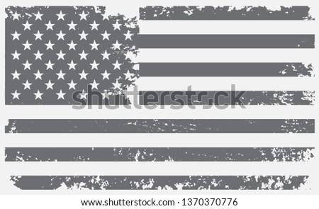 Grunge American flag.Vintage flag of USA. #1370370776