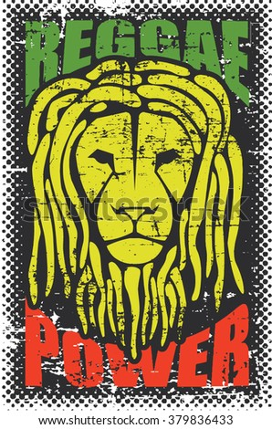 grunge artwork ''reggae power''