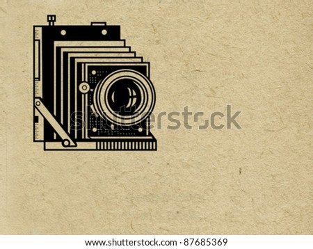 Grunge Camera Vector : Old dirty grunge note paper background download free vector art