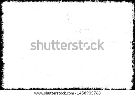 Grunge background black and white. Cracks, chips, scratches, dust texture. Abstract city wall. Dirty old surface. Vector vintage pattern