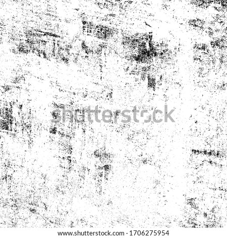 Grunge background black and white. Texture of scratches, chips, scuffs, cracks. Old vintage worn surface Foto stock ©