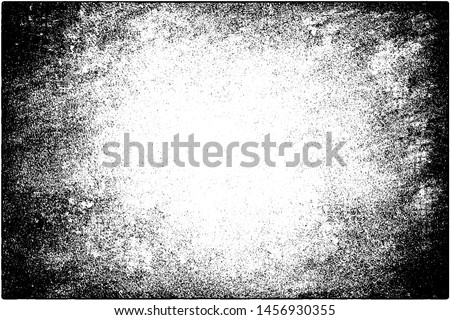 Grunge background black and white. Vector texture of scratches, chips, cracks. Monochrome gloomy pattern of the old surface