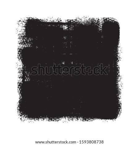 Grunge background. Grunge frame. Grunge border. Grunge black square on white background.