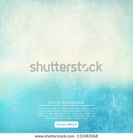 grunge background in blue and