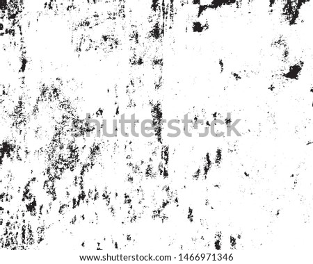Grunge background of black and white. Abstract vector vintage pattern cracks, chips, scratches, dust. Dirty old surface.