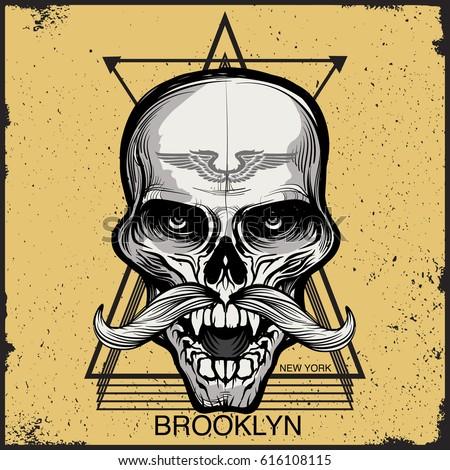 grunge background print design