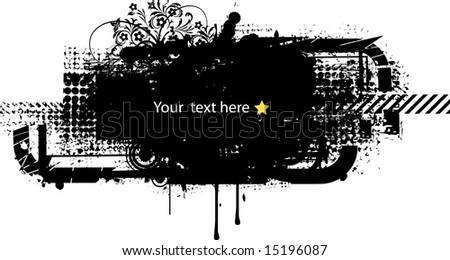 grunge background so you can add your own images 1 (vector) - stock vector