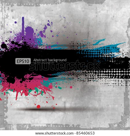 stock-vector-grunge-background-with-a-colorful-rainbow-ink-splat-effect