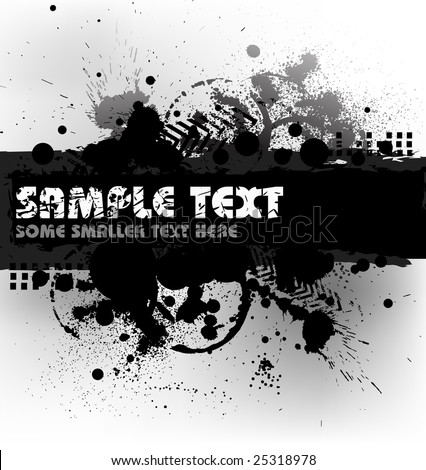 Grunge background with blots and place for your text (black and white)