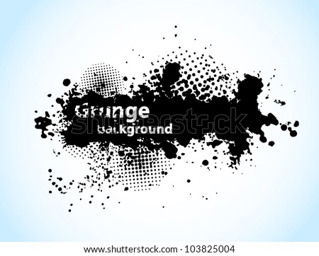 Grunge background with circles and black ink
