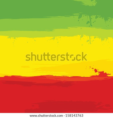 grunge background with flag of Ethiopia. Vector illustration.