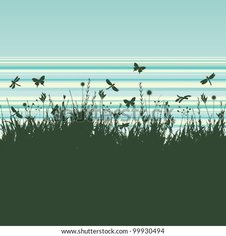 grunge background with flying