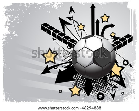 grunge background with football illustration