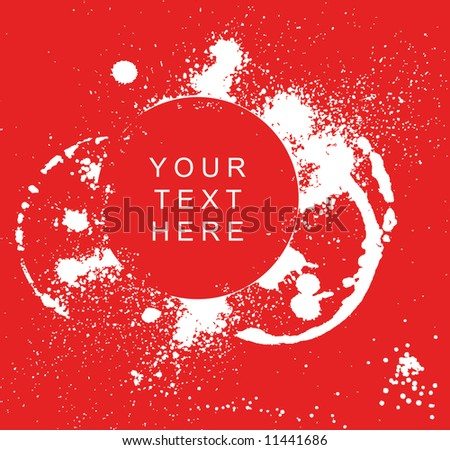 Grunge background with splats and place for your text - stock vector