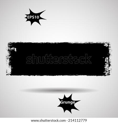 Grunge banner. Vector illustration.