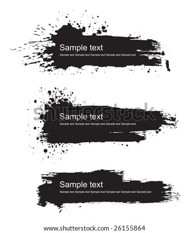 Grunge banners background vector set #26155864