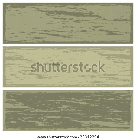 grunge banners, vector illustration