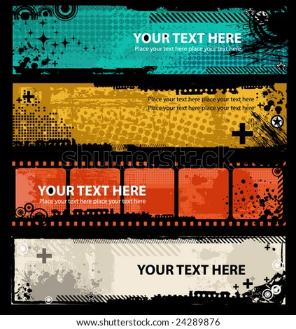 Grunge banners with place for your text.