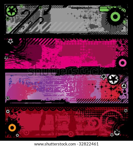 Grunge banners with place for your text. Vector