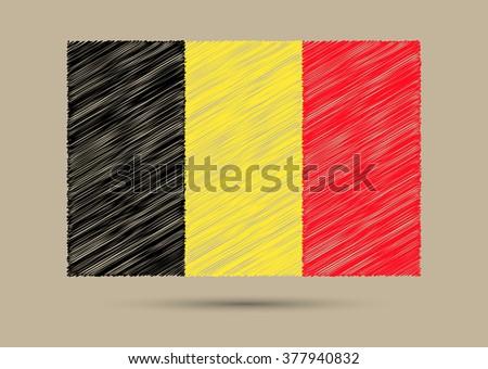 grunge belgium flagscribble