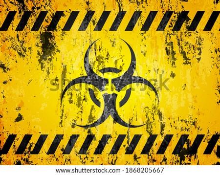 grunge biohazard sign textured
