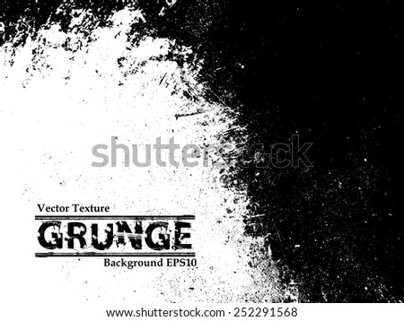 Grunge Black and White Distress Texture. #252291568