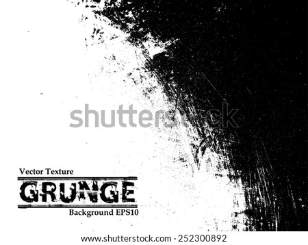 Grunge Black and White Distress Texture. #252300892