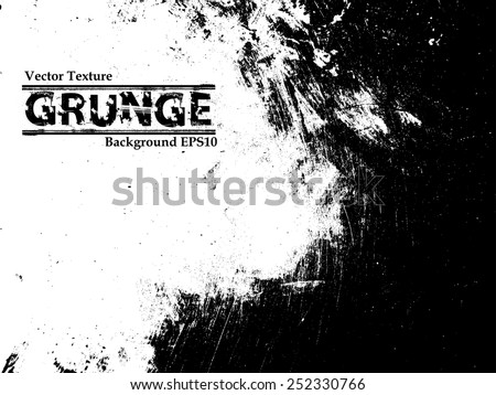 Grunge Black and White Distress Texture. #252330766