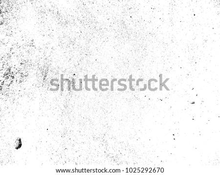Grunge Black and White Distress Texture .Wall Background .Vector Illustration