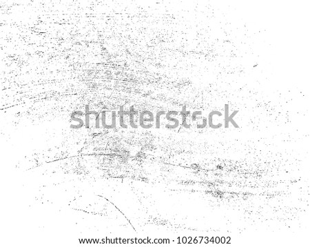 Grunge Black and White Distress Texture .Wall Background .Vector Illustration #1026734002