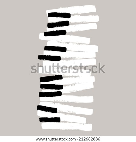 grunge black and white piano