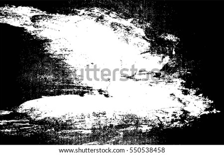 Grunge Black And White Urban Vector Texture Template. Dark Messy Dust Overlay Distress Background. Easy To Create Abstract Dotted, Scratched, Vintage Effect With Noise And Grain #550538458