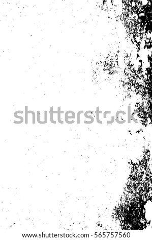 Grunge Black And White Urban Vector Texture Template. Dark Messy Dust Overlay Distress Background. Easy To Create Abstract Dotted, Scratched, Vintage Effect With Noise And Grain #565757560