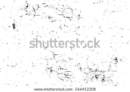 Grunge Black And White Urban Vector Texture Template. Dark Messy Dust Overlay Distress Background. Easy To Create Abstract Dotted, Scratched, Vintage Effect With Noise And Grain #566412208