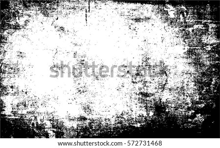 Grunge Black And White Urban Vector Texture Template. Dark Messy Dust Overlay Distress Background. Easy To Create Abstract Dotted, Scratched, Vintage Effect With Noise And Grain #572731468