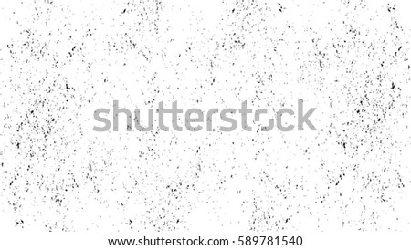 Grunge Black And White Urban Vector Texture Template. Dark Messy Dust Overlay Distress Background. Easy To Create Abstract Dotted, Scratched, Vintage Effect With Noise And Grain. Aging Design Element #589781540