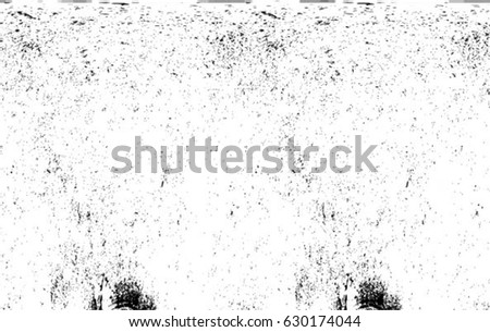 Grunge Black And White Urban Vector Texture Template. Dark Messy Dust Overlay Distress Background. Easy To Create Abstract Dotted, Scratched, Vintage Effect With Noise And Grain. Aging Design Element #630174044